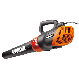 Worx Turbine Corded Electric Leaf Blower 12 Amp 600 CFM